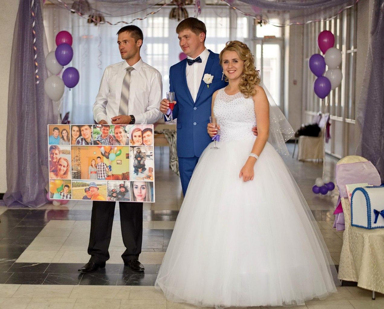 коллаж из фото на свадьбу